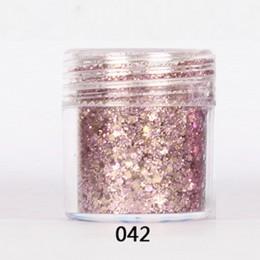 3D błyskotka płaty do paznokci cekiny mieszane różowy fioletowy serii blask brokat w proszku DIY Manicure Nail Art zestaw do dek