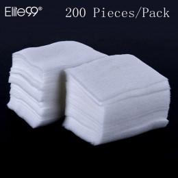 Elite99 200 sztuk/paczka chusteczki do paznokci żel UV do paznokci porady zmywacz do paznokci Cleaner Lint Paper Pad do czyszcze