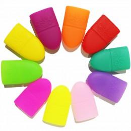 10 pc do paznokci tipsy do paznokci żel UV zmywacz do paznokci Wrap silikonowy elastyczny Soak Off czapka z daszkiem do Manicure
