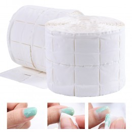 500 sztuk/rolka chusteczki do paznokci żel UV do paznokci porady zmywacz do paznokci Cleaner Lint Paper Pad moczyć do czyszczeni