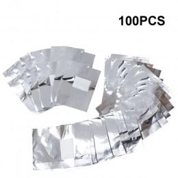 100 sztuk z 50 sztuk Aluminium folia Remover okłady do paznokci Soak Off żel akrylowy do paznokci polski usuwanie narzędzie do m