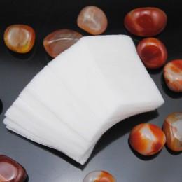 100 sztuk niestrzępiącą ściereczki serwetki na lakier do paznokci chusteczki do demakijażu klocki papieru do paznokci bawełna wk
