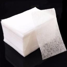 100 sztuk/paczka chusteczki do paznokci żel UV do paznokci porady zmywacz do paznokci Cleaner Lint Paper Pad do czyszczenia pazn