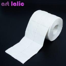 300 niestrzępiącą ściereczki lakier do paznokci akrylowy do usuwania żelu na ręczniki papierowe płatki kosmetyczne rolki Salon N