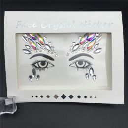 3D kryształki brokatu klejnoty tatuaż naklejki kobiety moda twarz ciało klejnoty Gypsy Festival ozdoby Party makijaż uroda nakle