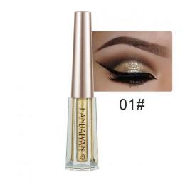 Płynny cień do powiek Glitter cień do oczu wodoodporny długotrwały połysk metalowej powłoki wewnętrznej stron oko kosmetyczne ma