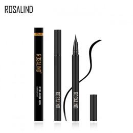ROSALIND Eyeliner strzałka dla oczy ołówek makijaż czarny wodoodporny cień do powiek Glitter długie-trwałe kosmetyki błyszczące