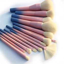 Kolor gradientu Pro 14 sztuk zestaw do makijażu pędzle kosmetyczne Powder Foundation Eyeshadow Eyeliner zestawy pędzli do makija