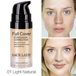 SACE LADY korektor do twarzy kremowa pełna pokrywa Płyn do makijażu twarzy korektor wodoodporna baza makijaż dla oczu ciemne koł
