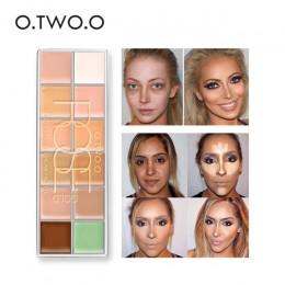 O. dwóch. O korektor krem podkład Paleta De Corretivo Profissional 12 kolory kosmetyczne Paleta korektorów Camouflage makijaż tw