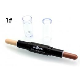 Twarzy fundacja kremowy podwójnie skończona 2 in1 kontur kij marka oczu korektor Stick twarzy makijaż mineralny Contour Conceale