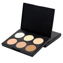 Profesjonalny makijaż korektor paleta 6 kolory kontur twarzy makijaż Corretivo pory Maquiagem korektor krem do twarzy krem do tw