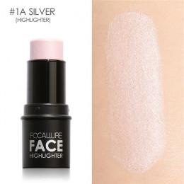 Focallure twarzy wyróżnienia i Bronzer kij Shimmer proszek kremowy wodoodporny korektor brokat twarz kontur twarzy zakreślacz