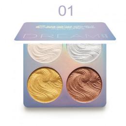 4 kolory rozświetlacz błyszczący zestaw do makijażu rozjaśniacz do twarzy konturowania rozświetlacz w płynie paleta do pudru Bro