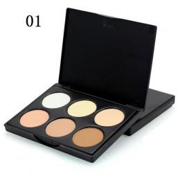 2018 nowy 6 kolory twarzy wyróżnienia paleta do pudru korektor korektor moc paleta konturowania zakreślacz Bronzer do makijażu w