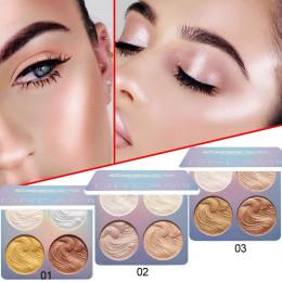 Gorąca CmaaDu wyróżnienia do makijażu Shimmer proszek do pieczenia wyróżnienia paleta baza oświetlacz podkreślić kontur twarzy B