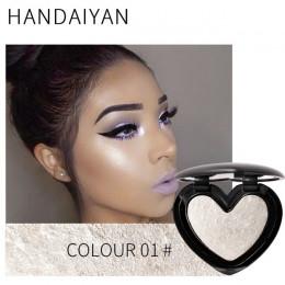 HANDAIYAN Shimmer twarzy makijaż wyróżnienia w kształcie serca w kształcie serca rozjaśnić policzek nos podkreślić Shining palet