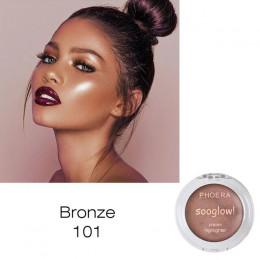 PHOERA bazy Highlighter rozjaśnić makijaż oświetlacz Shimmer Powder paleta kontur Bronzer blask zestaw TSLM2