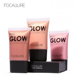FOCALLURE twarzy złota wyróżnienia Płyn do makijażu błyszczący rozświetlacz kontur twarzy rozjaśniacz Glow rozświetlacz w płynie