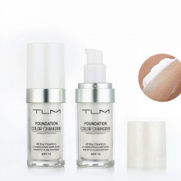 Pro zmiana koloru fundacja makijaż baza nago twarzy płyn pokrywy korektor długotrwały makijaż prezent sombras do pielęgnacji skó