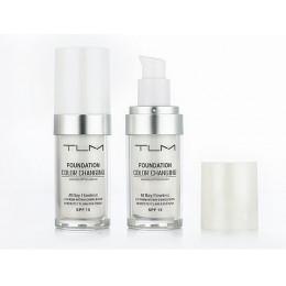 30 ml TLM zmiana koloru płyn fundacja makijaż zmienić się do odcienia skóry, po prostu mieszanie twarzy makijaż SPF 15