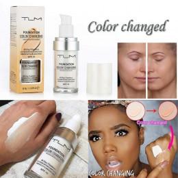 TLM bez skazy zmiana koloru ciepły odcień skóry fundacja makijaż baza nago twarzy nawilżający płyn pokrywa korektor biały