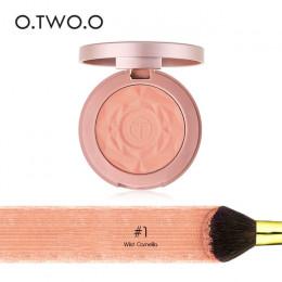 O. Dwóch. O paleta róży długotrwały policzek makijaż róż do policzków Maquiagem uroda kosmetyki z wciśnięty pędzel do makijażu l