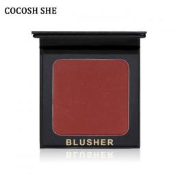 6 kolorów przez COCOSH ona rumieniec makijaż kosmetyki naturalne paleta z odcieniami różu uroczy policzek kolor makijaż twarz Bl