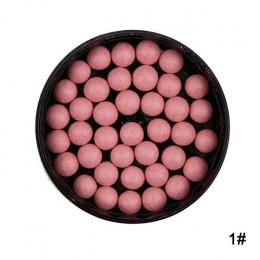 1PC makijaż twarzy matowy róż do policzków Ball 3 w 1 Blush Eyeshadow kontur kosmetyków w proszku kulki do makijażu rumieniec pe