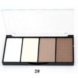 Fundacja makijaż 1 sztuk Pro 4 kolory Contour Palette twarzy puder prasowany w pełnym rozmiarze 803D-2
