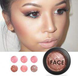FOCALLURE makijaż róż do policzków najwyższej jakości profesjonalny policzek 6 kolory pieczony rumieniec Bronzer róż do policzkó