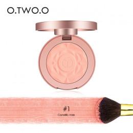 O. dwóch. O twarzy paleta z odcieniami różu makijaż policzek róż do policzków Powder minerałów palety pędzle kosmetyczne paleta