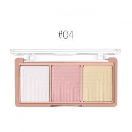 O.TWO.O 4 kolory wyróżnienia Powder Blush palety pędzla 3D kontur twarzy wyróżnienia cieniowania w proszku twarzy makijaż