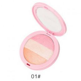 3 kolory przez NANDA pieczony rumieniec makijaż kosmetyczne naturalne pieczone paleta z odcieniami różu uroczy policzek kolor ma