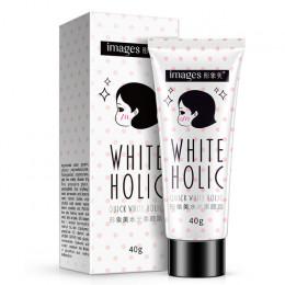 Obrazy szybkie biały krem holic trwały nawilżacz powietrza wybielanie skóry kontrola oleju pokrywa porów trądzik nago makijaż ba
