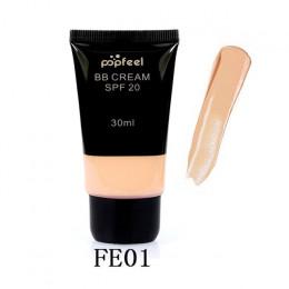 Popfeel zasad marki makijaż wodoodporny SPF 20 blokada przeciwsłoneczna wybielanie matowe twarzy nagie cieczy fundacja BB krem m