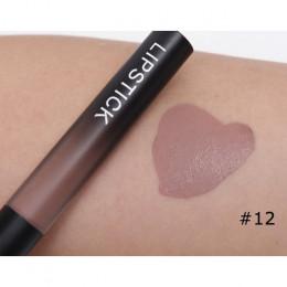 Profesjonalny makijaż aksamitna cielisty błyszczyk do ust wodoodporny płyn matowy szminka długotrwały czarna szminka zestaw kore