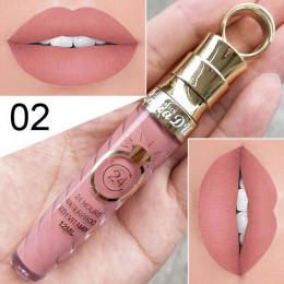 Wodoodporna modna matowa szminka w płynie do makijażu ust wyraźne kolory długotrwała metaliczna pomadka