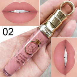 Nowy!! makijaż usta matowa szminka w płynie wodoodporny długotrwały Sexy pigmentu nago Glitter styl błyszczyk piękno czerwony od