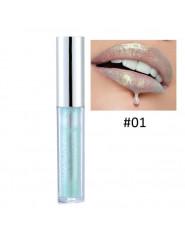 Modna holograficzna szminka w płynie trwała efekt syrenki błyszczyk do ust błyszcząca pomadka