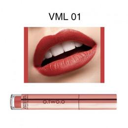 O.TWO.O cieczy szminka wodoodporna długotrwała matowy aksamitna błyszczyk makijaż gładki odcień pigmentu czerwone usta kosmetyki