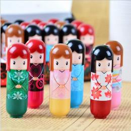 1 sztuk pomadka do ust lalki z kreskówek balsam do ust nawilżający Repair Lipstick losowo kolor natura owoce odżywczy makijaż ko