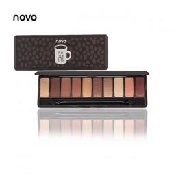 NOVO moda paleta cieni do powiek 10 kolory matowy cień do powiek paleta cieni do powiek makijaż Nude makijaż zestaw Korea kosmet