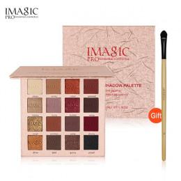 IMAGIC New Arrival urocze cienie do powiek 16 paleta kolorów makijaż paleta Matte Shimmer pigmentowe oczu cień do powiek w prosz