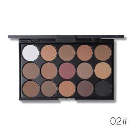 UCANBE marka 15 ziemi kolor Shimmer matowy paleta cieni do powiek zestaw do makeupu Pigment Glitter cień do powiek nago Smoky pa