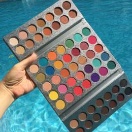 Piękno przeszklone New Arrival 63 kolor paleta cieni do powiek brokat makijaż matowy cień do powiek paleta do makijażu maquillag