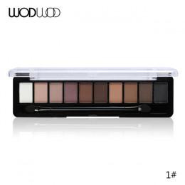 Profesjonalny makijaż marka kolor ziemi 10 paleta kolorowych cieni do powiek brokat paleta Maquiagem aksamitne pigmenty matowe c