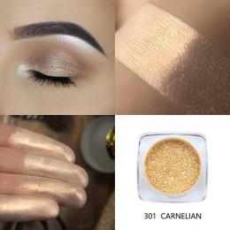 Nowa moda Top marka PHOERA pigmentowy cień do oczu Glitter Powder połyskujące kolory cień do powiek paleta metaliczny makijaż oc