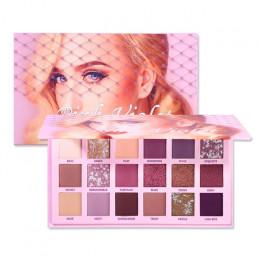 Zmienne nago cień do oczu piękno paleta zestaw do makeupu 18 kolorów matowy brokatowy błyszczący cień do powiek w proszku wodood