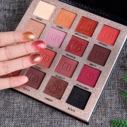 Piękno przeszklone urocze cienie do powiek 16 kolory naturalne matowy perłowy cień do powiek paleta do makijażu uroda kosmetyki